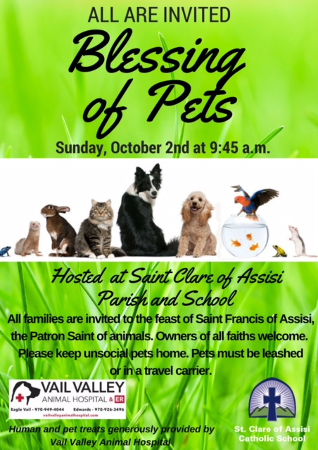 Blessing of Pets - All Invited!
